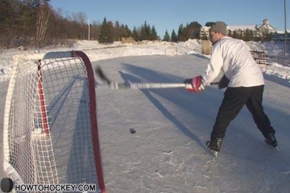 hockey backhander