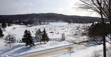 pond hockey at deerhurst resort