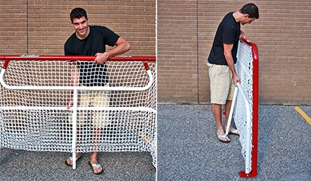 folding hockey net