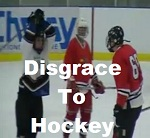 disgrace to hockey, hockey stick hit to head