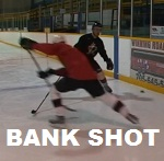 Bank puck off the boards in hockey