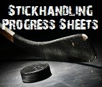 stickhandling progress tracking sheets
