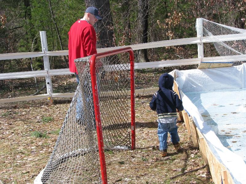 backyard hockey rink