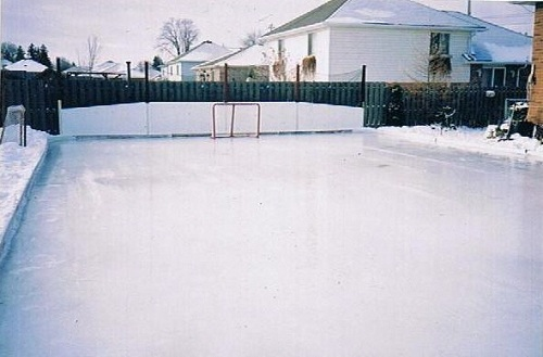 Backyard Rink Ideas : Outdoor Hockey Rink Backyard hockey rink