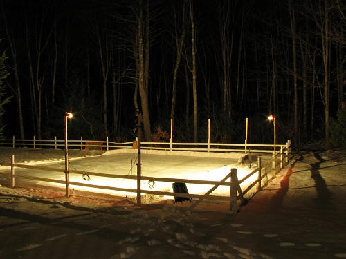 Backyard Rink Ideas : How to Build a Backyard Hockey Rink