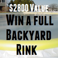 Post image for Win A $2800 Full Backyard Hockey Rink Kit with Boards – Winner chosen Nov 10th 2013