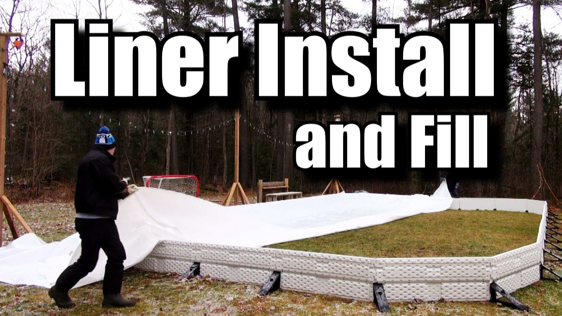 Backyard Ice Rink Liner : How to Install a backyard rink Liner and Fill It